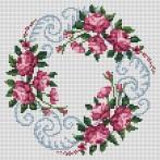 Kanwa z nadrukiem - Zaplątane róże