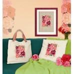 Kanwa z nadrukiem - Tajemnicze róże