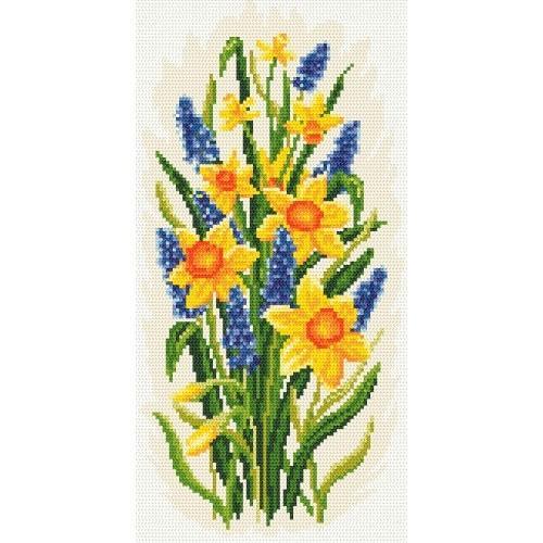 Kanwa z nadrukiem - Powiew wiosny