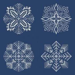 Kanwa z nadrukiem - Śnieżynki