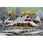 Kanwa z nadrukiem - Zimowy pejzaż