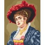 Wzór graficzny online - Portret - kobieta