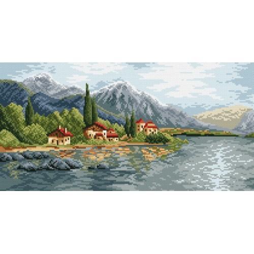 Wzór graficzny online - Górska wioska