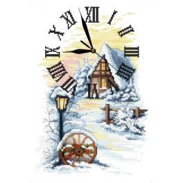Wzór graficzny online - Zimowy zegar