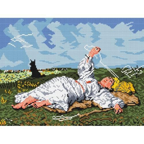 Wzór graficzny online - Babie lato - J. Chełmoński