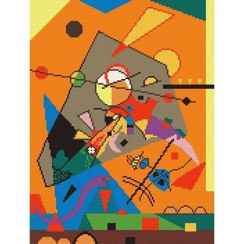 Wzór graficzny online - Kompozycja - W. Kandinsky