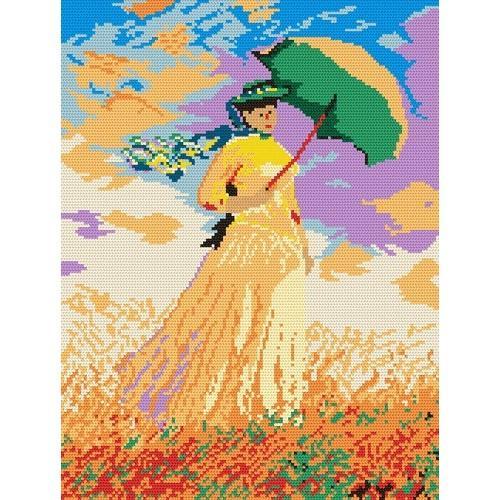 Wzór graficzny online - Kobieta z parasolką - Claude Monet