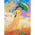 W 198 Wzór graficzny ONLINE pdf - Kobieta z parasolką - Claude Monet