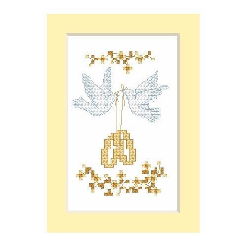 Wzór graficzny online - Kartka ślubna - Obrączki