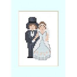Wzór graficzny online - Kartka ślubna - Młoda Para