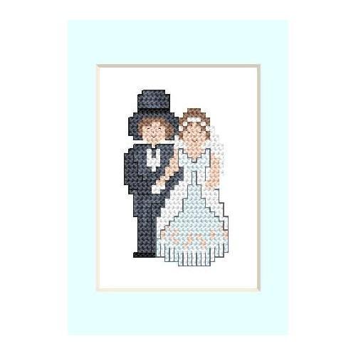 W 2104 Wzór graficzny ONLINE pdf - Kartka ślubna - Młoda Para