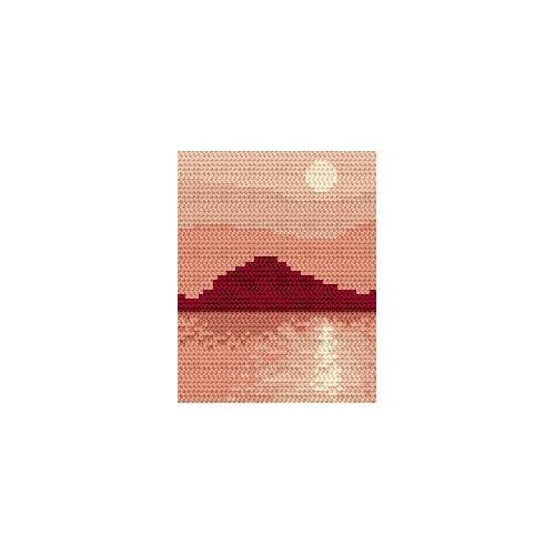 Wzór graficzny online - Zachód słońca - wyspa
