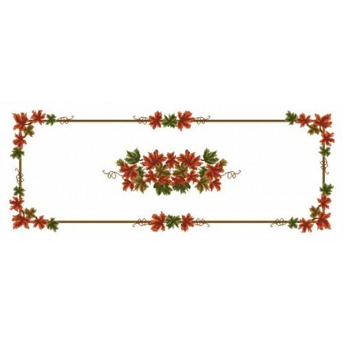 Wzór graficzny online - Bieżnik - Jesienne liście