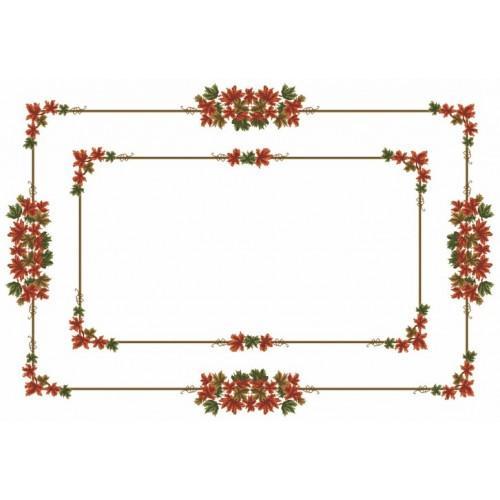 Wzór graficzny online - Obrus - Jesienne liście