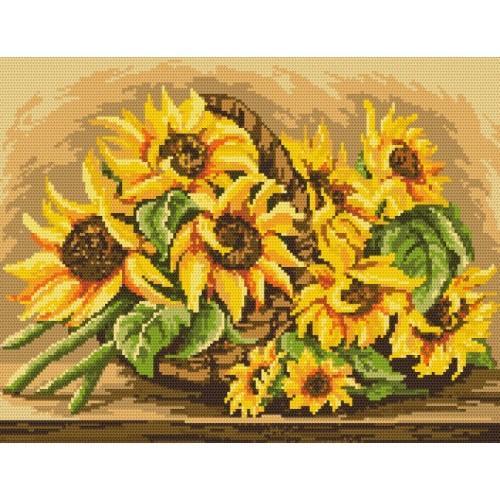 Wzór graficzny online - Słoneczniki w koszyku