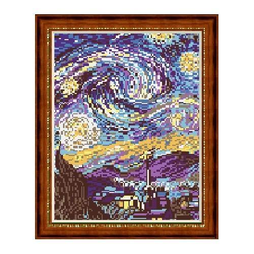W 226 Wzór graficzny ONLINE pdf - Gwiaździsta noc - V. van Gogh
