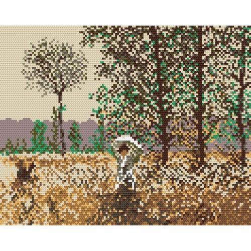 Wzór graficzny online - Wiosenne pole - Claude Monet