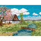 Wzór graficzny online - Pejzaż wiosenny