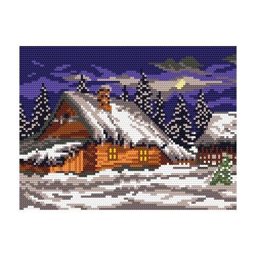 Wzór graficzny online - Zimowy wieczór