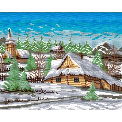 Wzór graficzny online - Pejzaż zimowy