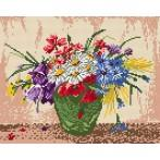 Wzór graficzny online - Kwiaty w wazonie
