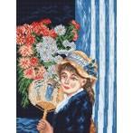 Wzór graficzny online - Dziewczyna z wachlarzem - A. Renoir