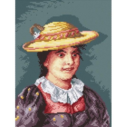 Wzór graficzny online - Dziewczynka w kapeluszu
