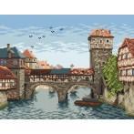 Wzór graficzny online - Most nad rzeką