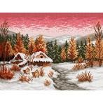 Wzór graficzny online - Zimowy wieczór - S. Sikora