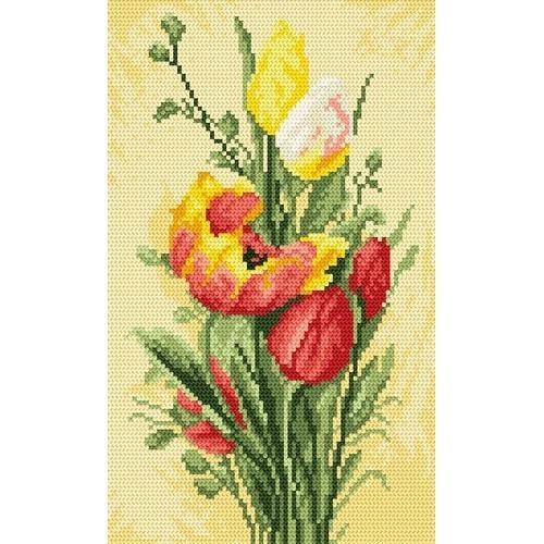 Wzór graficzny online - Wiosenne tulipany