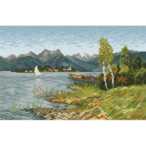 Wzór graficzny online - Nad jeziorem