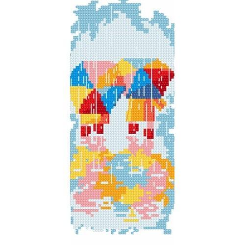 Wzór graficzny online - Spacer w deszczu