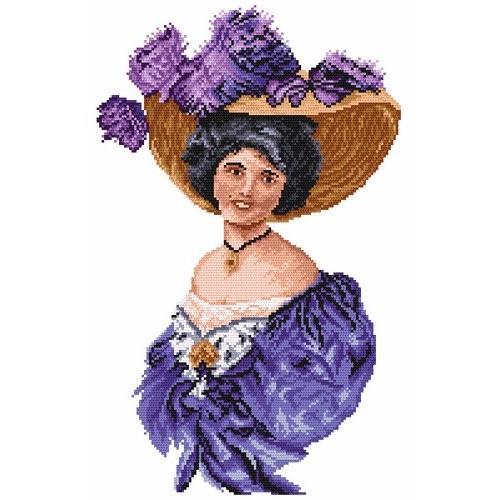 Wzór graficzny online - Kobieta w fioletowej tunice