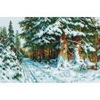 Wzór graficzny online - W zimowym lesie
