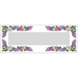 Wzór graficzny online - Bieżnik z kolorowym bzem