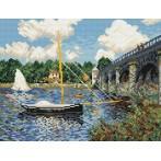 W 800 Wzór graficzny online - Most drogowy w Argenteuil - Claude Monet