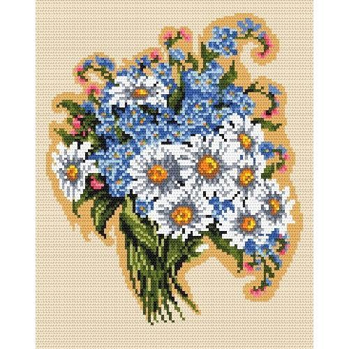 Wzór graficzny online - Wiązanka polnych kwiatów