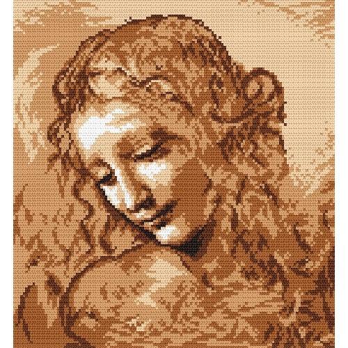 Wzór graficzny online - Głowa kobiety - L. da Vinci