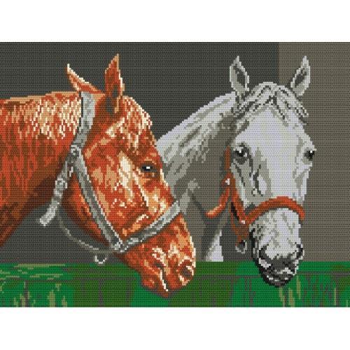 Wzór graficzny online - Konie