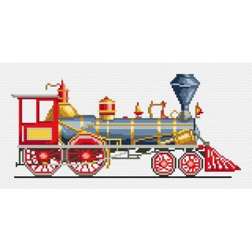 Wzór graficzny online - Czerwona lokomotywa