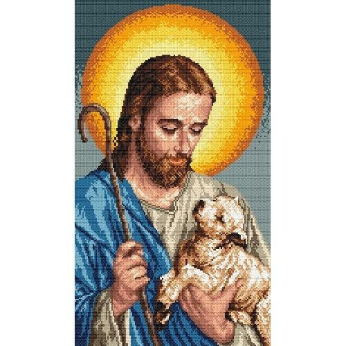 Wzór graficzny online - Jezus z barankiem