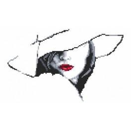 Wzór graficzny online - Kobieta w kapeluszu II