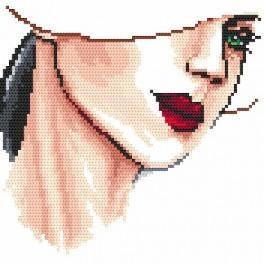 Wzór graficzny online - Portret damy