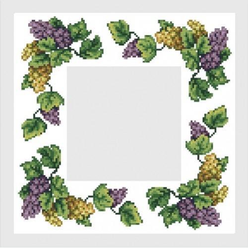 Wzór graficzny online - Serwetka z winogronami - B. Sikora-Małyjurek