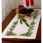 Wzór graficzny online - Bieżnik z winogronami - B. Sikora-Małyjurek
