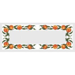 Wzór graficzny online - Bieżnik z brzoskwiniami - B. Sikora-Małyjurek