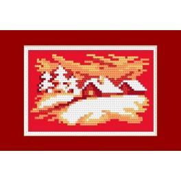 Wzór graficzny online - Kartka świąteczna- Wigilijny wieczór - B. Sikora