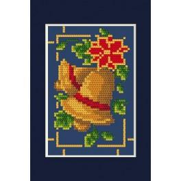 Wzór graficzny online - Kartka świąteczna- Błyszczące dzwoneczki B. Sikora