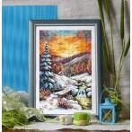 Wzór graficzny online - Blask zimowego wieczoru - S. Sikora