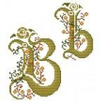 Wzór graficzny online - Monogram B - B. Sikora-Małyjurek